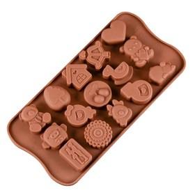 Силиконовая форма для шоколадных конфет Детская